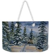 Original Watercolor - Colorado Winter Pines Weekender Tote Bag