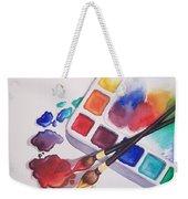 Watercolor Drops Weekender Tote Bag