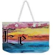 Watercolor E And Serenity Prayer Weekender Tote Bag