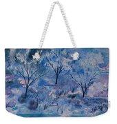 Watercolor - Icy Winter Landscape Weekender Tote Bag