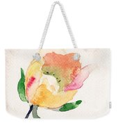 Watercolor Illustration With Beautiful Flower  Weekender Tote Bag