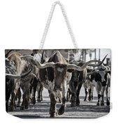 Watercolor Longhorns Weekender Tote Bag by Joan Carroll