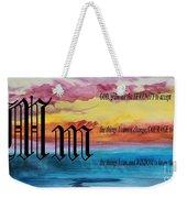 Watercolor M And Serenity Prayer Weekender Tote Bag