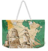 Watercolor Map 2 Weekender Tote Bag by Debbie DeWitt