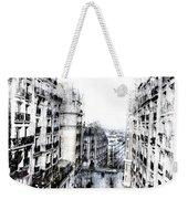 Watercolor Montmartre Weekender Tote Bag