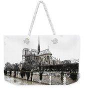 Watercolor Notre Dame Weekender Tote Bag