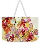 Watercolor Orchid Shadows Weekender Tote Bag