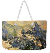 Watercolor Painting Machu Picchu Peru Weekender Tote Bag