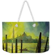 Watercolor Painting Of The Dome Of San Giorgio Maggiore Church I Weekender Tote Bag