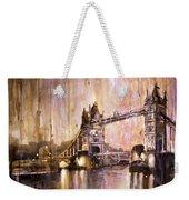Watercolor Painting Of Tower Bridge London England Weekender Tote Bag