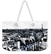 Watercolor Paris With Eiffel Weekender Tote Bag