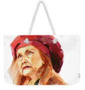 Watercolor Portrait Of An Old Lady Weekender Tote Bag