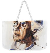 Watercolor Portrait Sketch Of A Man In Monochrome Weekender Tote Bag