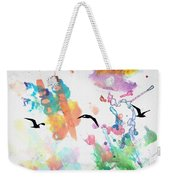 Watercolor Seagulls Weekender Tote Bag