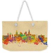 Watercolor Skyline Of Las Vegas Nevada  Usa Weekender Tote Bag