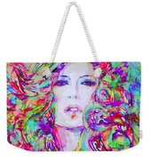 Watercolor Woman.32 Weekender Tote Bag
