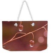 Waterdrop Haiku Weekender Tote Bag