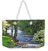 Waterfall And Hammock In Summer Weekender Tote Bag