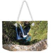Waterfall And Rainbow 3 Weekender Tote Bag
