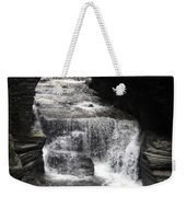 Waterfall And Rocks Weekender Tote Bag