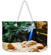 Waterfall At Cliff Side Weekender Tote Bag