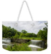 Waterfall At Valley Creek Near Valley Forge Weekender Tote Bag