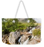 Waterfall Below Stob Dearg Weekender Tote Bag