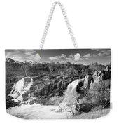 Waterfall Black And White Weekender Tote Bag
