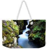 Waterfall, Glacier National Park Weekender Tote Bag