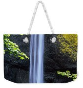 Waterfall In A Forest, Latourell Falls Weekender Tote Bag