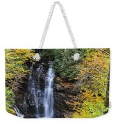 Waterfall In Autumn Weekender Tote Bag