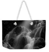 Waterfall In Black And White Weekender Tote Bag by Bill Gallagher