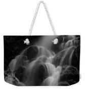 Waterfall In Black And White Weekender Tote Bag