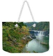 Waterfall In Forest, Cumberland Falls Weekender Tote Bag