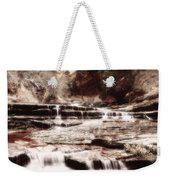 Waterfall In Sepia Weekender Tote Bag