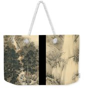 Waterfall In Spring And Autumn Weekender Tote Bag
