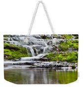 Waterfall In The Forest In Autumn Season  Weekender Tote Bag