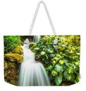 Waterfall In The Hosta Weekender Tote Bag