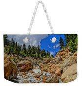 Waterfall In The Rockies Weekender Tote Bag