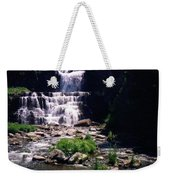 Waterfall Into The Stream Weekender Tote Bag