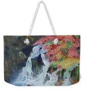 Japanese Waterfall Weekender Tote Bag