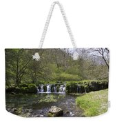 Waterfall Lathkill Dale Derbyshire Weekender Tote Bag