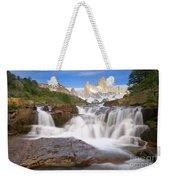 Los Glaciares Waterfall Weekender Tote Bag by Yva Momatiuk John Eastcott