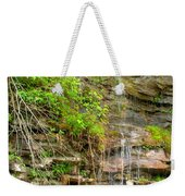 Waterfall On The Way To Thurmond Weekender Tote Bag