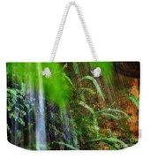 Waterfall Over Ferns Weekender Tote Bag