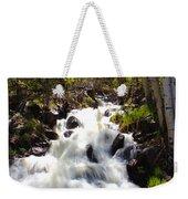 Waterfall Through The Aspens Weekender Tote Bag