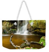 Waterfall With Autumn Leaves Weekender Tote Bag