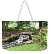 Waterfall With Coneflowers Weekender Tote Bag