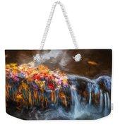Waterfalls Childs National Park Painted  Weekender Tote Bag