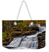 Waterfalls In The Fall Weekender Tote Bag by Susan Candelario